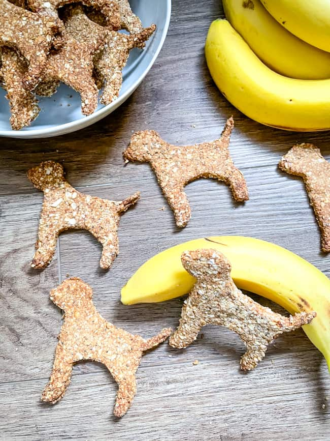 Treats scattered with some bananas