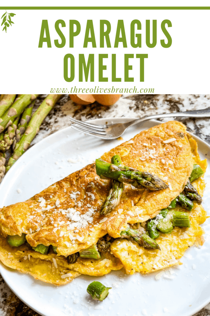 Pin image for Asparagus Omelette with title