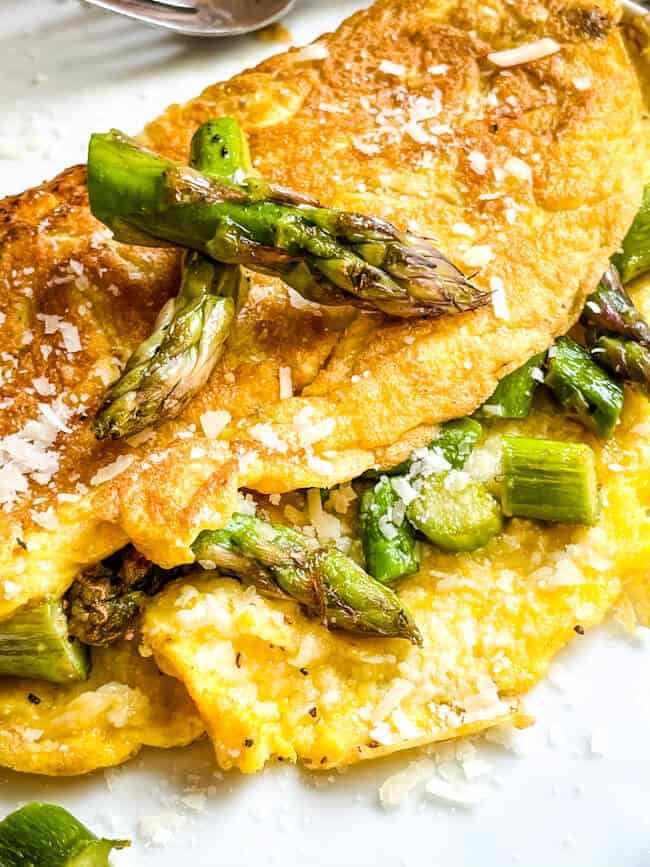 Close up of the omelet