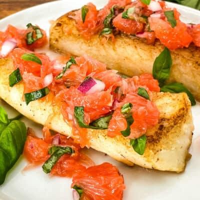 Cod with Grapefruit Relish