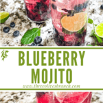 Long pin for Blueberry Mojito with title