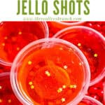 Top view of Fireball Jello Shots with title at top