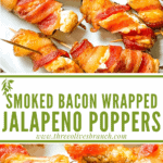 Pin image for Smoked Jalapeno Poppers with title