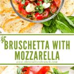Long pin for Bruschetta with Mozzarella (Caprese Bruschetta) with title