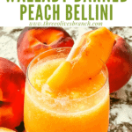 Pin image of Copycat Outback Steakhouse Wallaby Darned Peach Cocktail from side with title at top