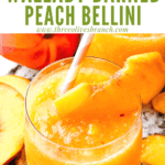 Pin image of a Copycat Outback Steakhouse Wallaby Darned Peach Cocktail with title at top
