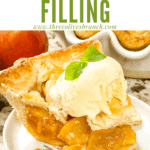 Pin image of Peach Pie Filling with title at top