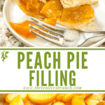 Long pin for peach pie filling with title
