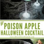 Long pin image for Poison Apple Halloween Cocktail with title