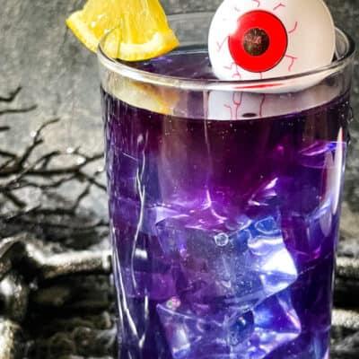Purple People Eater Halloween Cocktail Mocktail Recipe Story
