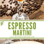 Long pin image of Espresso Martini with title