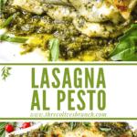 Long pin for Lasagna al Pesto with title