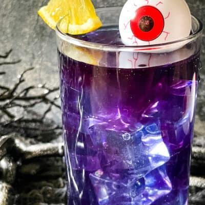 Purple People Eater Halloween Cocktail (+Mocktail)