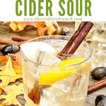 Pin image of Whiskey Cider Sour with title at top
