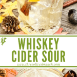 Long pin of Whiskey Cider Sour with title