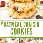 Long pin for Oatmeal Craisin Cookies with title