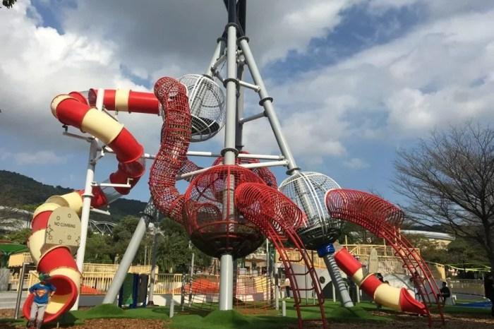 【台北親子景點】遛小孩新地標「天母夢想樂園」全國首座 9 公尺高溜滑梯