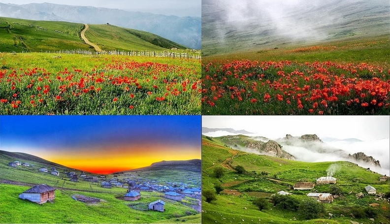 Mazandaran and Gilan province mountain and villages