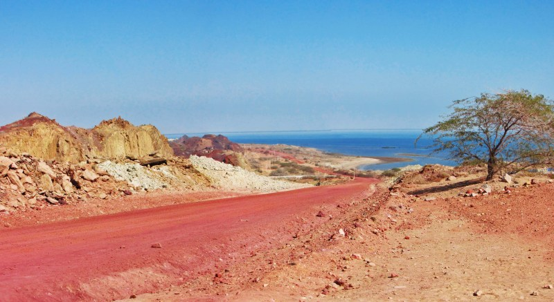 Red soil of Hurmoz Island