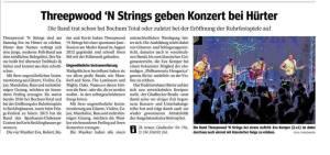 Threepwood 'N Strings in Bottrop (WAZ 21.01.2017)