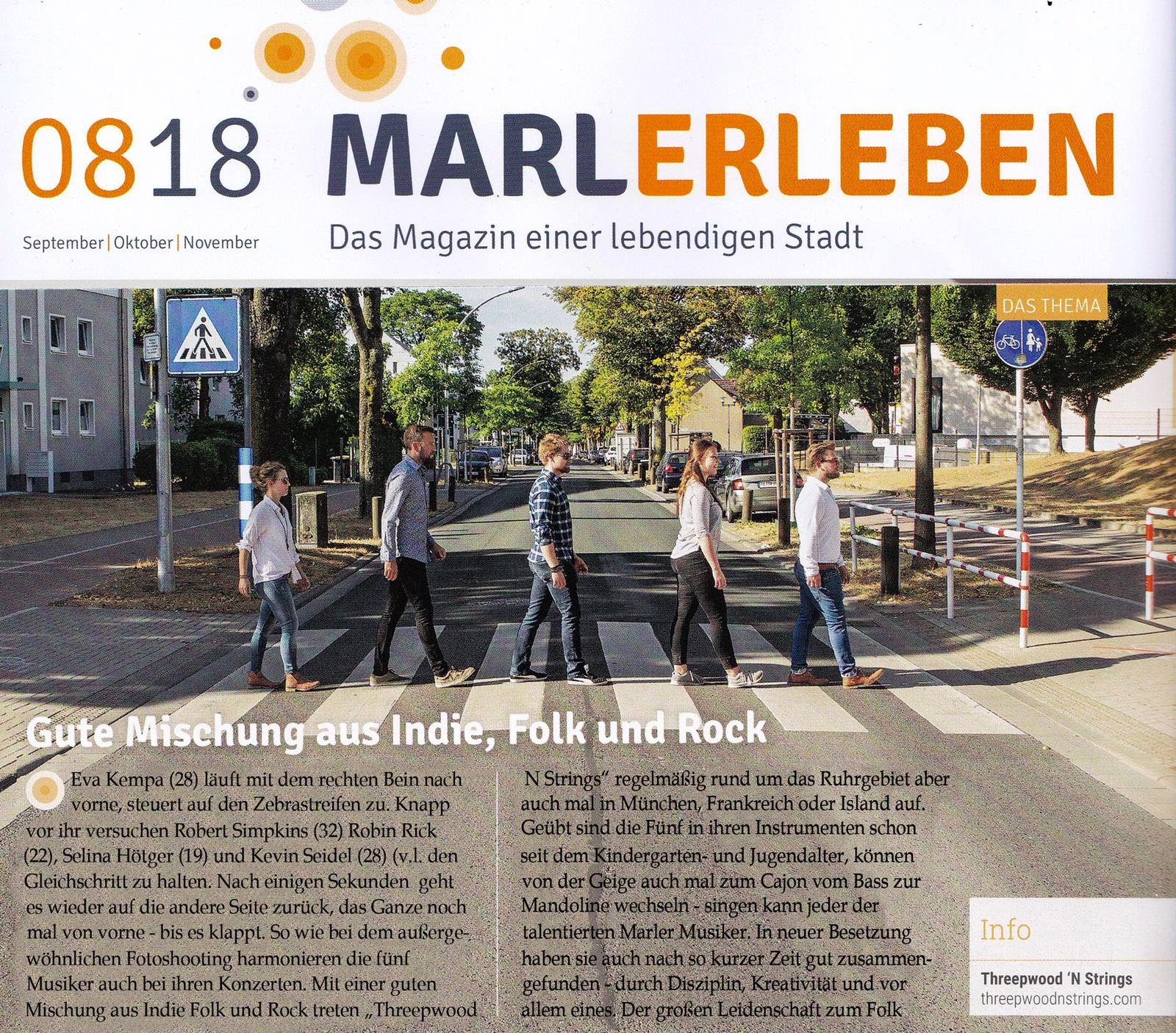 Threewood N Strings - Stadtmagazin Marl 2018