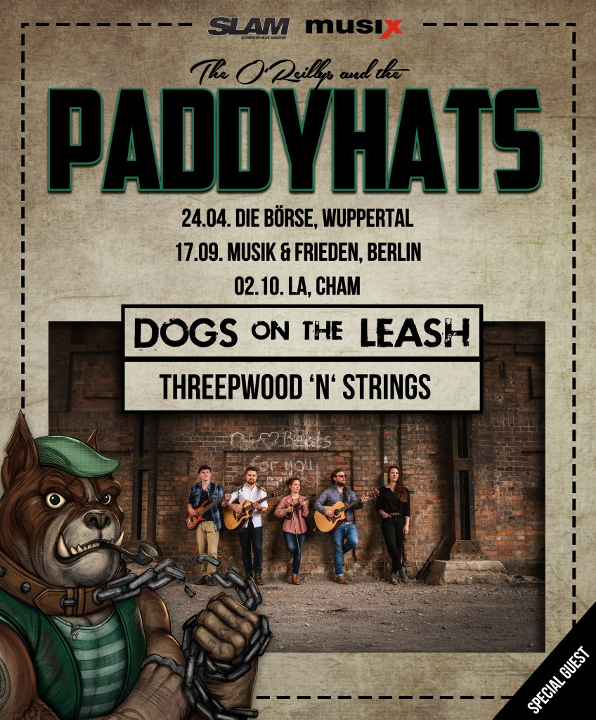 Threepwood 'N Strings sind Support für The O'Reillys and the Paddyhats