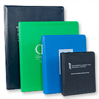 Many Sizes of Custom Vinyl Binders