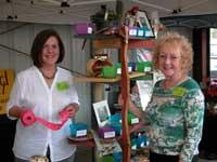 Karen and Judy volunteering at Redbud Festival