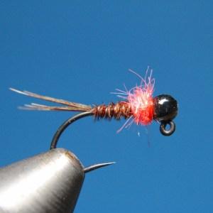 Hotspot pheasant tail tungsten jig