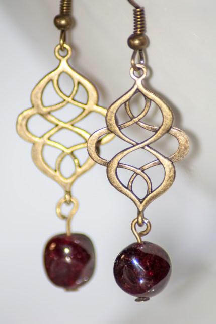 Garnet Drop Earrings