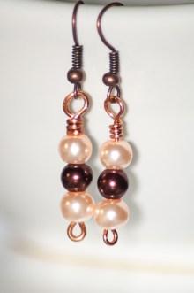 Multi-tone faux pearl earrings