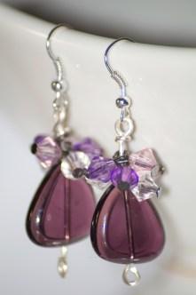 Stunning glass cluster earrings.
