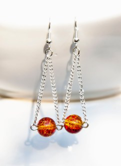 Don't these beads just like little balls of fire? I love them :)