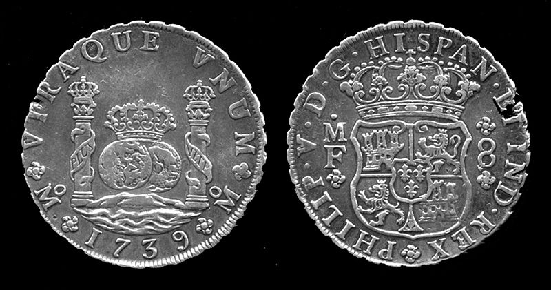 Spanish Piece of Eight from 1739 (King Philipe)