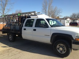 contractor for eavestroughing gets a new truck