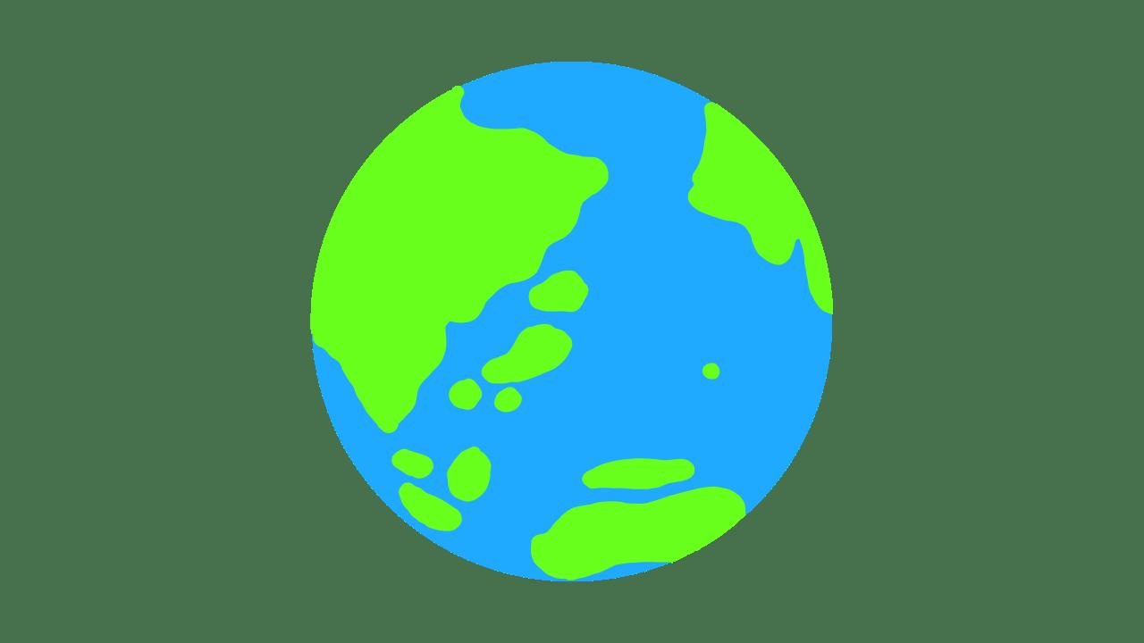 地球のイラスト スリースターデザイン フリー素材 商用利用可能