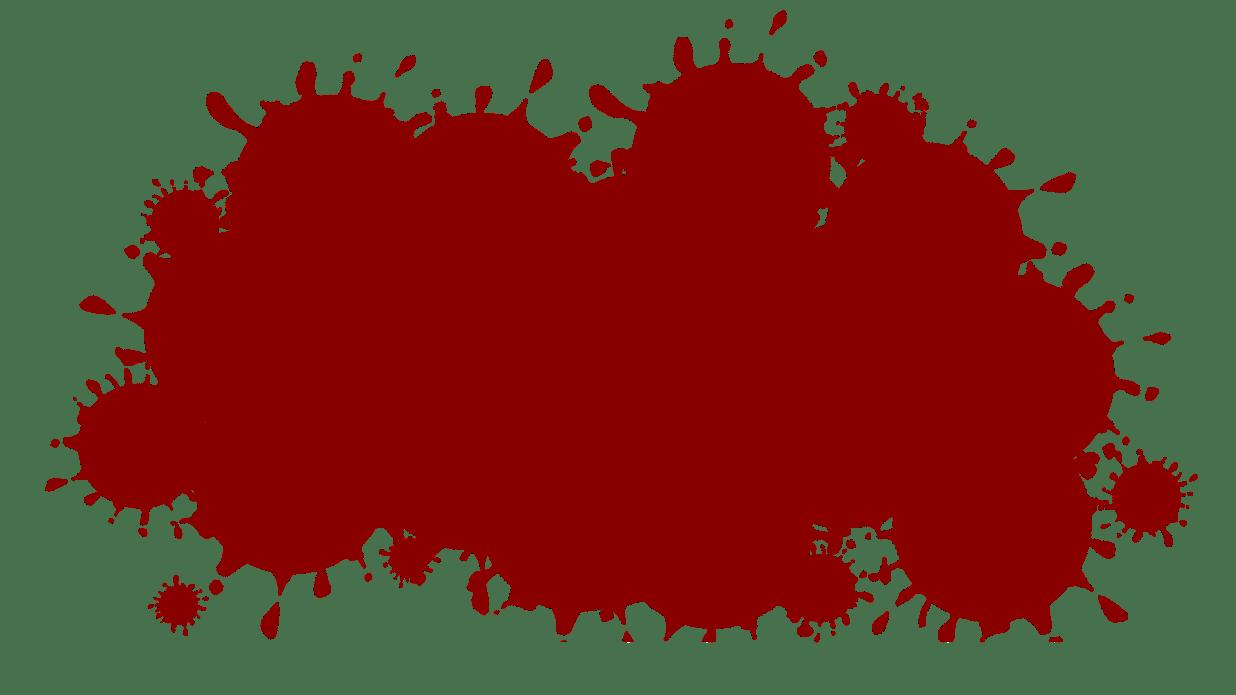 血しぶきの吹き出しのイラスト スリースターデザイン無料素材商用