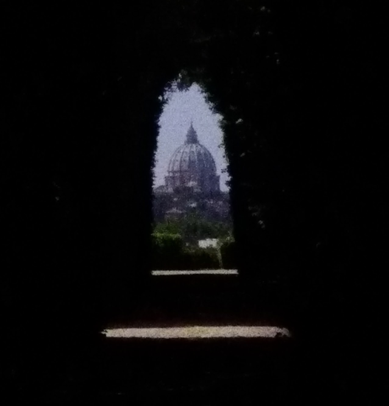 Keyhole view of St. Peter's Basilica