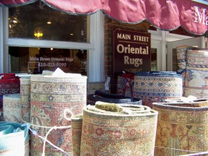 Flying carpets, from Main Street to your home. Photo by Mike Hartley