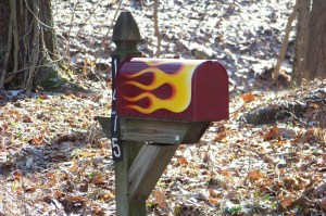 Mailbox on Woodstock road. Photo by Mike Hartley