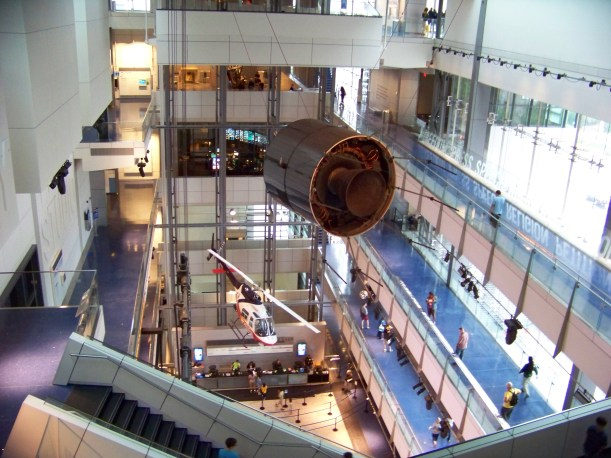 Newseum 5th floor looking down. Photo by Mike Hartley
