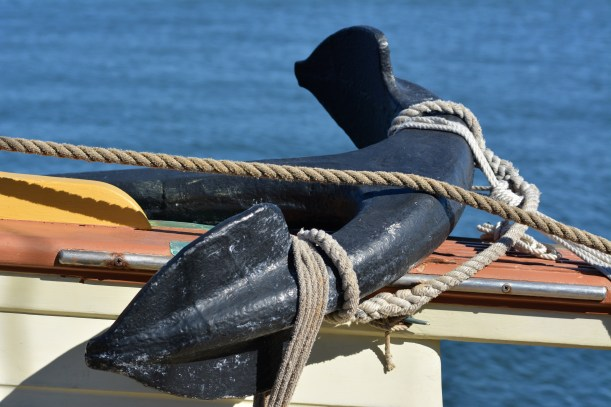 Anchors away. Well untie it first. Photo by Mike Hartley