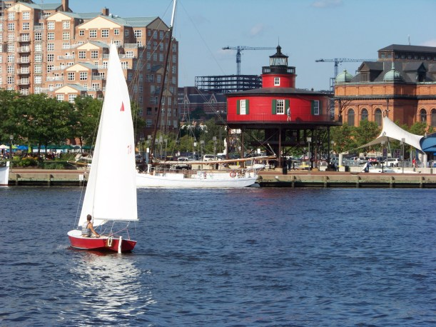 Sailing in the Baltimore Harbor. Photo by Mike Hartley