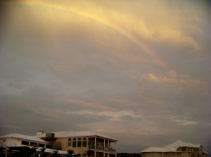 Rainbow over Fager's Island Photo by Mike Hartley