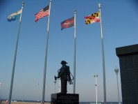 Memorial on boardwalk