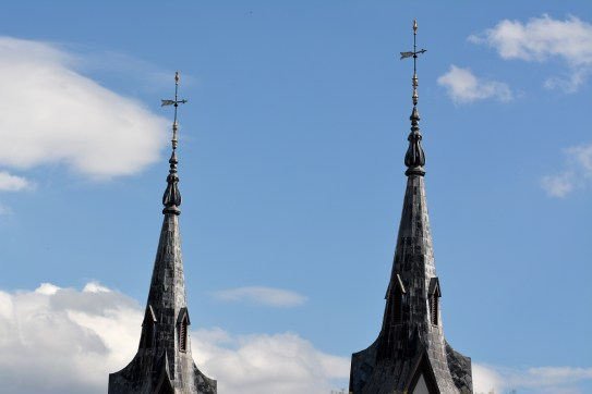 Spires from top of Church st garage. Photo by Mike Hartley