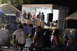Entertainment on two stages. Photo by Mike Hartley