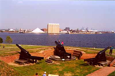 Cannons at Fort McHenry Photo by Mike Hartley