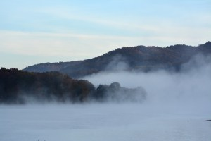 Fog over Lake Habeeb Photo by Mike Hartley