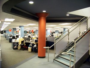 Editorial offices at the old 15th st building. Photo by Mike Hartley
